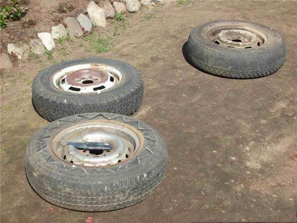 Что можно сделать из старых колёс.